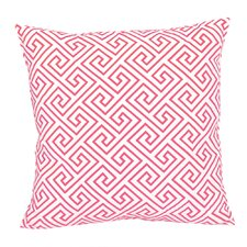 Santorini, Geometric Pink Embroidered Pillow