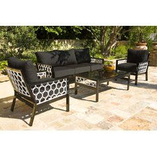 Parkview Cast 4 Piece Deep Seating Group with Cushions