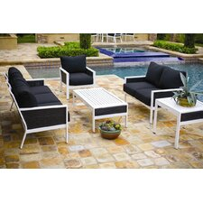Parkview Woven 5 Piece Deep Seating Group with Cushions