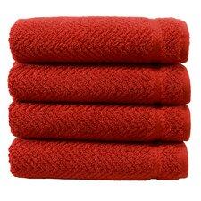 Herringbone Luxury Hotel & Spa Weave 100%Turkish Cotton Hand Towel (Set of 4)