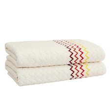 Montauk Zig Zag Bath Towel (Set of 2)
