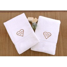 I Love You Mom Embroidered Hand Towel (Set of 2)
