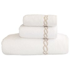 Cadena Embroidered Soft Twist 3 Piece Towel Set