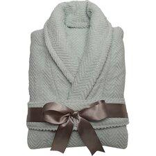 Herringbone Weave 100% Turkish Cotton Monogram Unisex Bathrobe
