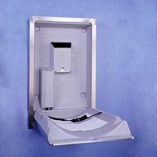 Vertical Stainless Steel Changing Station with Surface Mount
