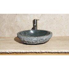 Oval Vessel Bathroom Sink with Broken Edge