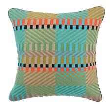 Vintage Weave Needlepoint Linen Throw Pillow