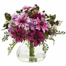 Mixed Daisy Floral Arrangement in Vase