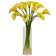 Mini Calla Lily Floral Arrangements in Yellow