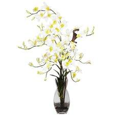 Dendrobium with Vase Silk Flower