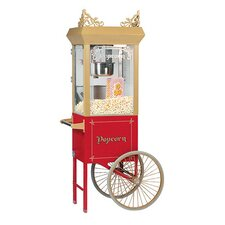6 oz Antique Popcorn Machine w/ Cart