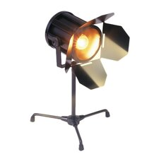 """Spotlight 14"""" H Table Lamp with Drum Shade"""