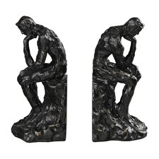Thinking Man Book Ends (Set of 2)
