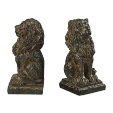Lion Book Ends (Set of 2)