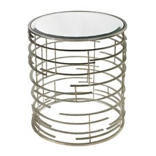 Contemporary Sculptural Metal Work Side Table with Glass Top
