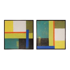 Geometry 2 Piece Framed Graphic Art Set