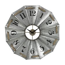 """Oversized 29"""" Aluminum and Rope Wall Clock"""