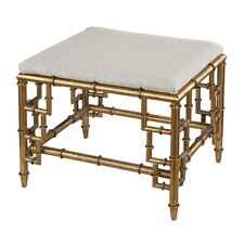Stool with Bamboo Frame and Linen Seat