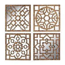 Mirrored Wall Panel (Set of 4)