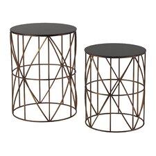 2 Piece Bradfield Drum Side Table Set