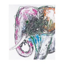 Bold Elephant Oversized Oil Painting Print on Canvas