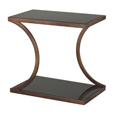 Misterton Rectangle Side Table with Curved Legs