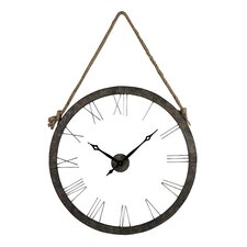 "Oversized 36"" Hung On Rope Wall Clock"