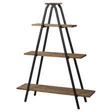Wooden a Line Bookcase with Metal Frame 64.5'' Etagere