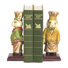 Chef Bunny Book Ends (Set of 2)