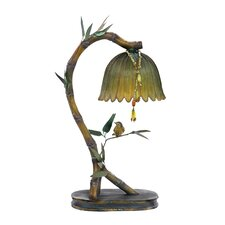 "Perching Finch 17"" H Table Lamp with Bowl Shade"