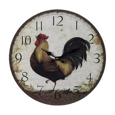 "13"" Rooster Wall Clock"