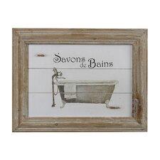 Savon De Bains Picture in Wooden Frame