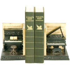 Dueling Piano Book Ends (Set of 2)