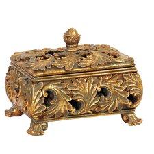Textured Leaf Decorative Keeping Box