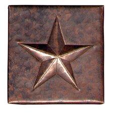 """Star 4"""" x 4"""" Copper Tile in Dark Copper"""