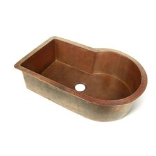 "Copper 33"" x 22"" Nautilus Single Bowl Kitchen Sink"