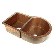 """Copper 33"""" x 22"""" Nautilus 60/40 Kitchen Sink"""