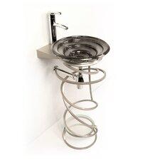"Iron Becha 20"" Single Pedestal Bathroom Vanity Base"