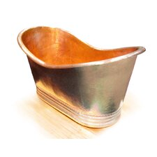 "Juliana Copper 71"" x 37"" Large Slipper Tub"