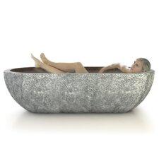 """Etna Natural Stone 73"""" x 36"""" Bathtub"""