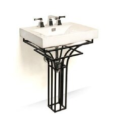 "Iron Virtus 24"" Single Pedestal Bathroom Vanity Set"