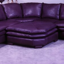 Fargo Leather Ottoman
