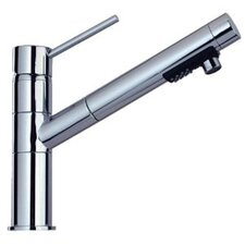 Lever Handle Deck Mounted Kitchen Faucet with Pull-Out 2-Mode Spray