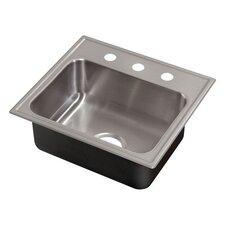 "21"" x 19"" Single Bowl Drop-In Kitchen Sink"