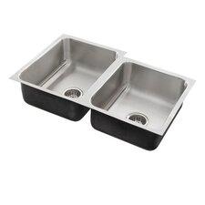 """32"""" x 18"""" x 7.5"""" Double Bowl Undermount Kitchen Sink"""