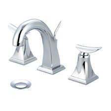 Bathroom Faucet Double Handle with Drain Assembly
