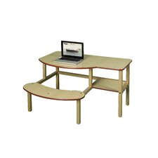 "Pre-School Buddy Manufactured Wood 19"" Computer Desk"