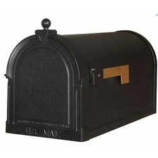 Berkshire Post Mounted Mailbox with Rain Overhang