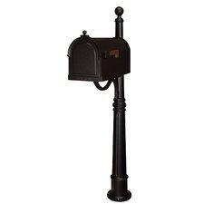 Berkshire Pedestal Mounted Mailbox with Rain Overhang