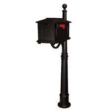 Kingston Pedestal Mounted Mailbox with Rain Overhang